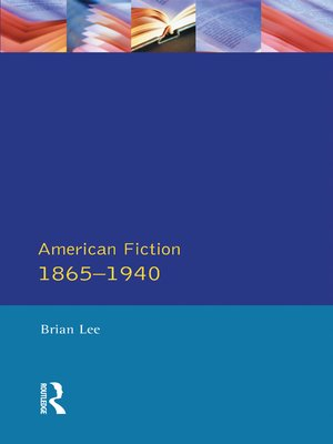 cover image of American Fiction 1865--1940