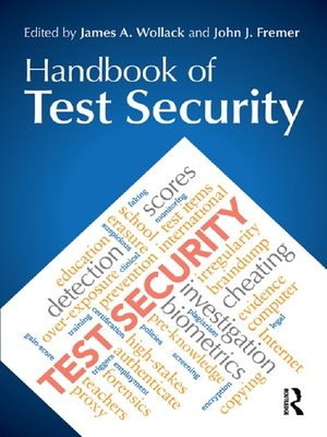 cover image of Handbook of Test Security