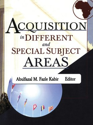 cover image of Acquisition in Different and Special Subject Areas