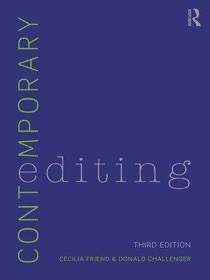 cover image of Contemporary Editing