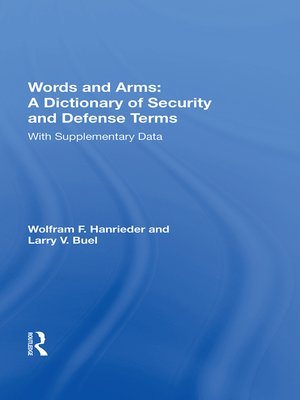 cover image of Words and Arms