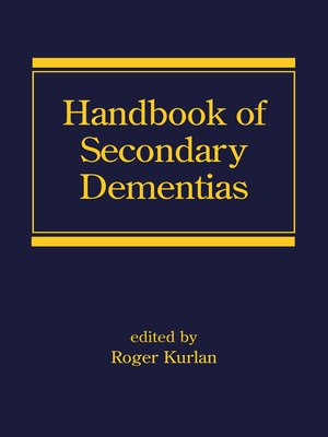 cover image of Handbook of Secondary Dementias