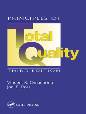 cover image of Principles of Total Quality