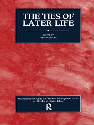 cover image of The Ties of Later Life