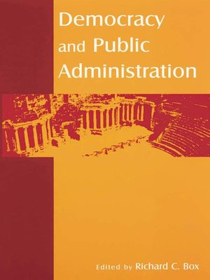 cover image of Democracy and Public Administration