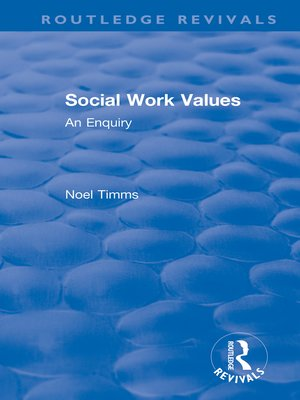 cover image of Social Work Values