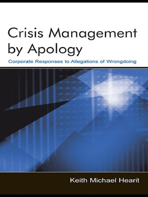 cover image of Crisis Management by Apology