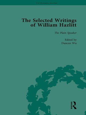 cover image of The Selected Writings of William Hazlitt Vol 8