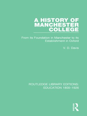 cover image of A History of Manchester College