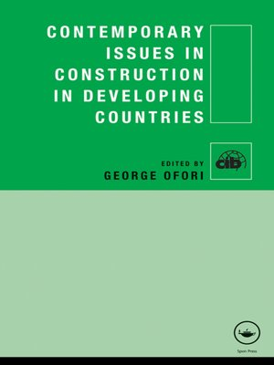 cover image of Contemporary Issues in Construction in Developing Countries