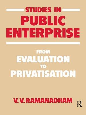 cover image of Studies in Public Enterprise