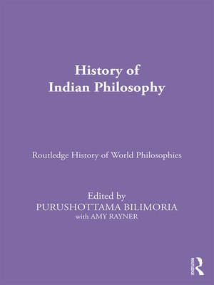 cover image of History of Indian Philosophy