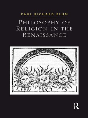 cover image of Philosophy of Religion in the Renaissance