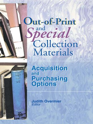 cover image of Out-of-Print and Special Collection Materials