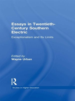 cover image of Essays in Twentieth-Century Southern Education