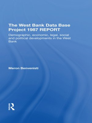 cover image of The West Bank Data Base 1987 Report