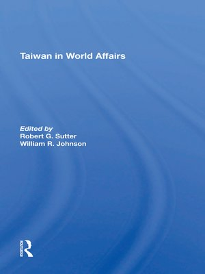 cover image of Taiwan In World Affairs