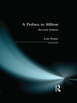 cover image of A Preface to Milton