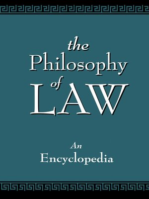 cover image of The Philosophy of Law
