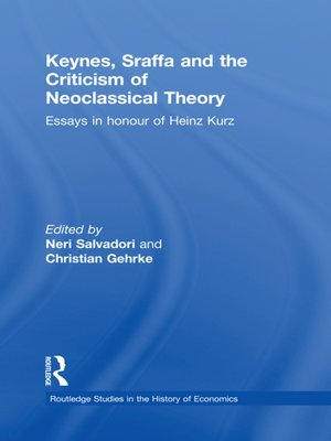 cover image of Keynes, Sraffa, and the Criticism of Neoclassical Theory