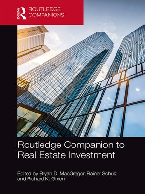 cover image of Routledge Companion to Real Estate Investment