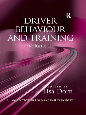 cover image of Driver Behaviour and Training