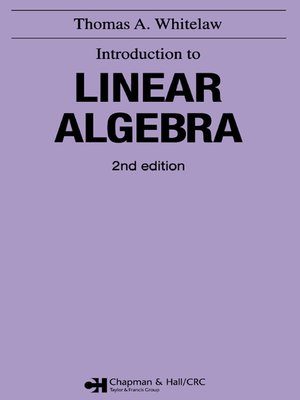 cover image of Introduction to Linear Algebra