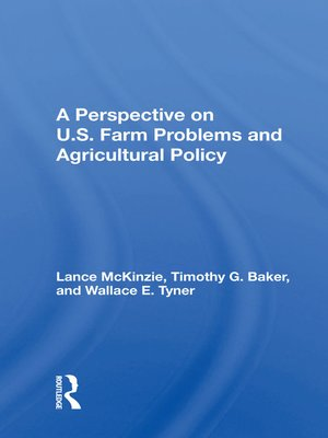 cover image of A Perspective On U.s. Farm Problems and Agricultural Policy