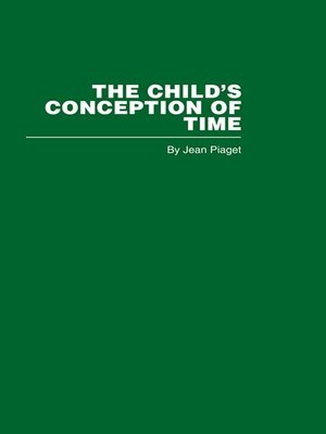 cover image of The Child's Conception of Time