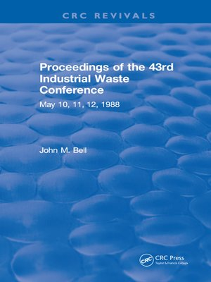 cover image of Proceedings of the 43rd Industrial Waste Conference May 1988, Purdue University