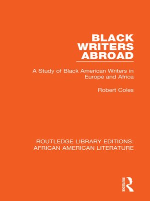 cover image of Black Writers Abroad