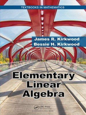 cover image of Elementary Linear Algebra
