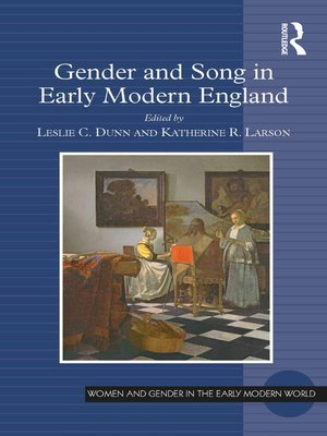 cover image of Gender and Song in Early Modern England
