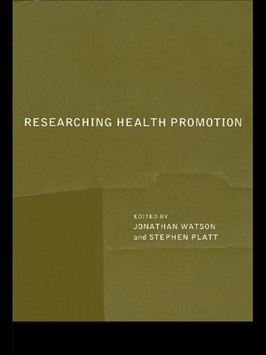 cover image of Researching Health Promotion