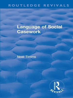 cover image of Language of Social Casework