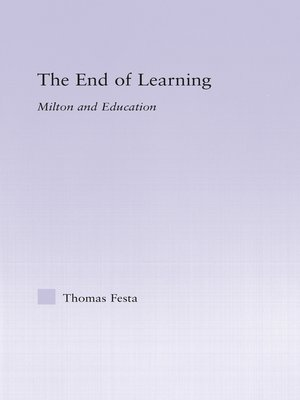 cover image of The End of Learning