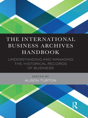 cover image of The International Business Archives Handbook