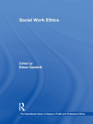 cover image of Social Work Ethics