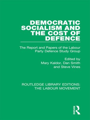 cover image of Democratic Socialism and the Cost of Defence