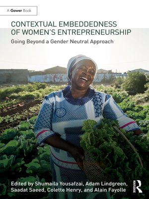 cover image of Contextual Embeddedness of Women's Entrepreneurship