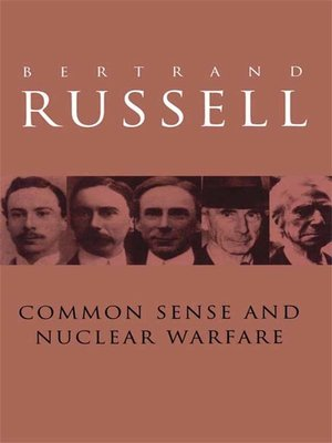 cover image of Common Sense and Nuclear Warfare