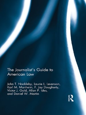 cover image of The Journalist's Guide to American Law
