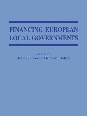 cover image of Financing European Local Government