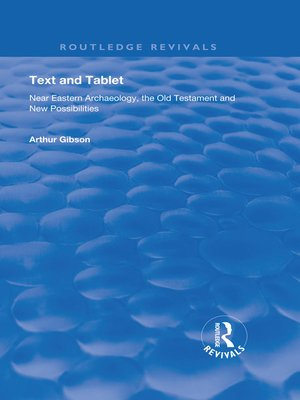cover image of Text and Tablet