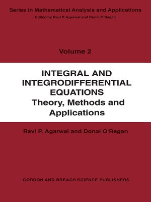 cover image of Integral and Integrodifferential Equations