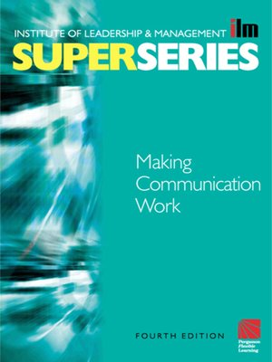 cover image of Making Communication Work
