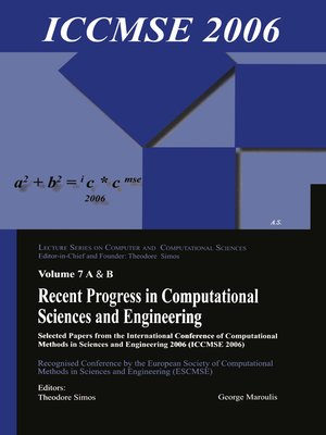 cover image of Recent Progress in Computational Sciences and Engineering (2 vols)