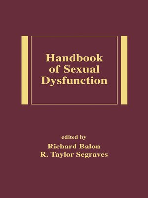 cover image of Handbook of Sexual Dysfunction