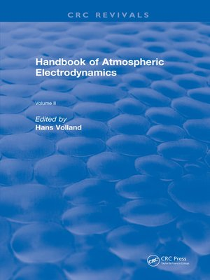 cover image of Handbook of Atmospheric Electrodynamics (1995)