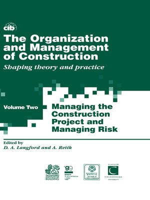 cover image of The Organization and Management of Construction